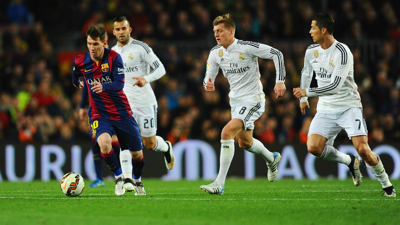 Lionel Messi Cristiano Ronaldo Jese Toni Kroos Barcelona Real Madrid