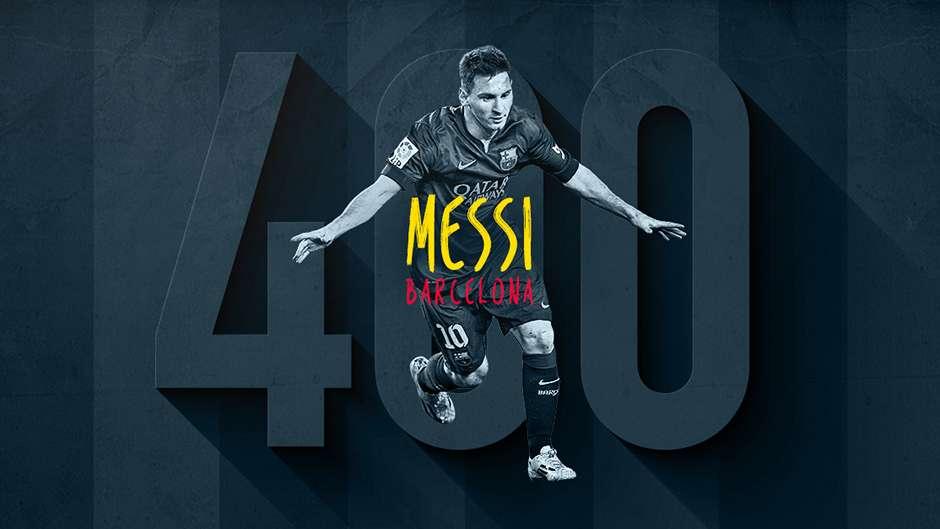 Lionel Messi 400 Barcelona