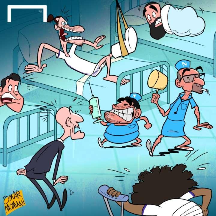 Cartoon Real Madrid Injury Crisis