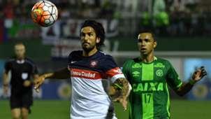 Marcos Angeleri Tiaguinho San Lorenzo Chapecoense 23112016