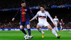 Lionel Messi Barcelona Milan Champions League