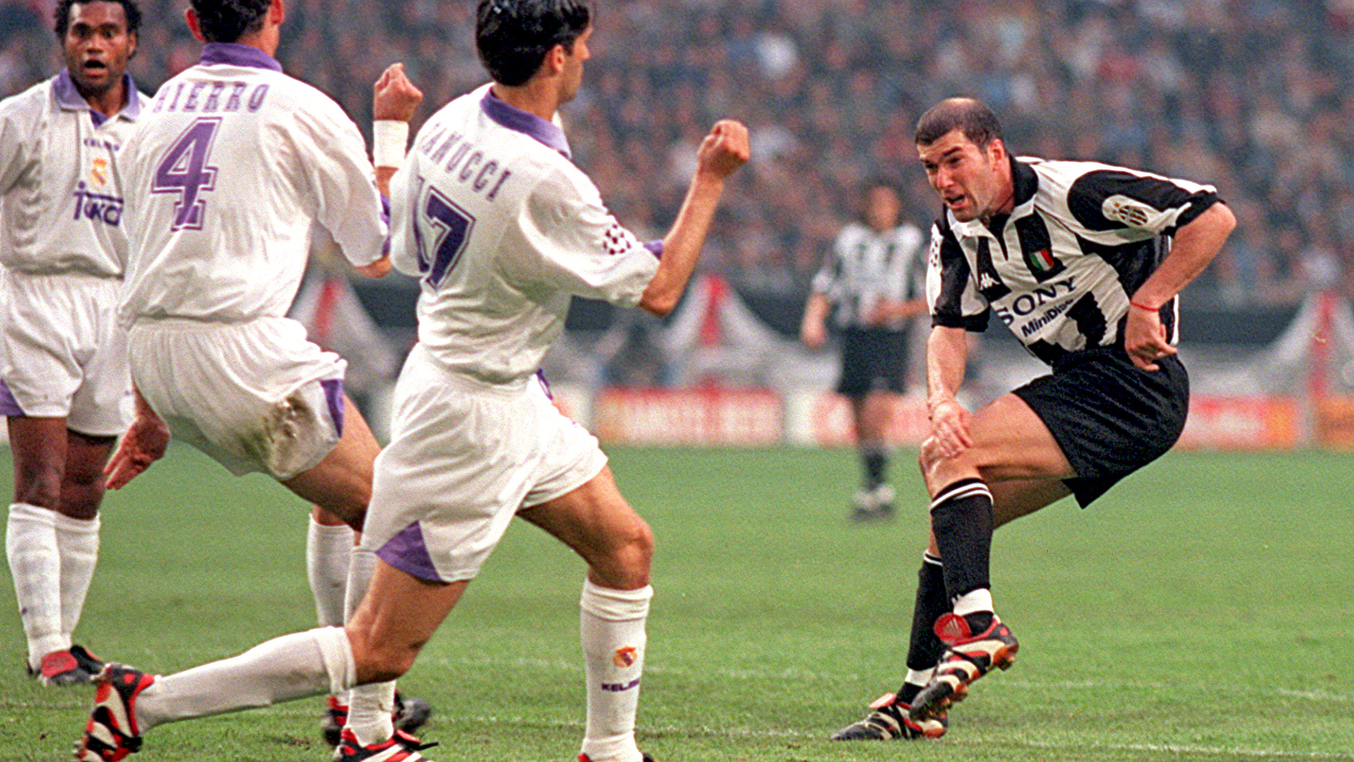 Zinedine Zidane 1998 Champions League final Real Madrid Juventus