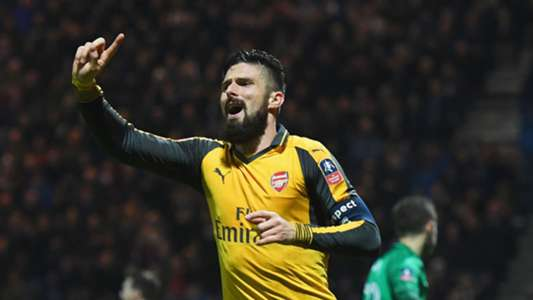 Olivier Giroud Arsenal Preston FA Cup