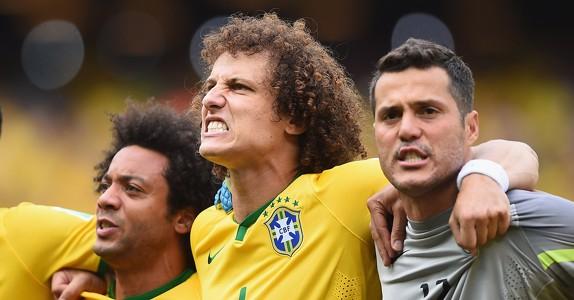 David Luiz Brazil Mexico World Cup 2014