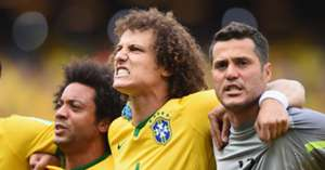 David Luiz Brazil Mexico World Cup 2014