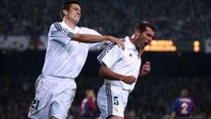 Santiago Solari Zinedine Zidane Real Madrid vs Barcelona in 2002