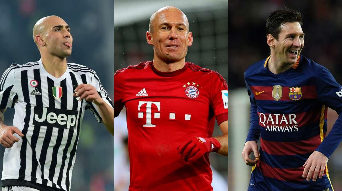 Zaza Robben Messi collage