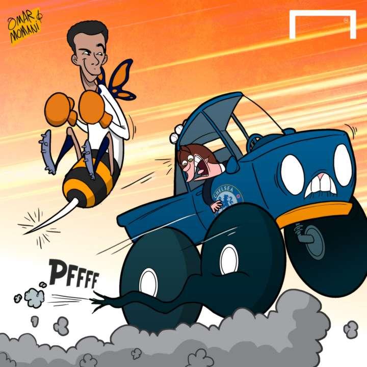 Cartoon Dele Alli Chelsea