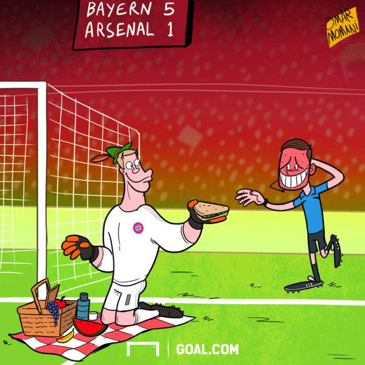Cartoon - Neuer in picnic