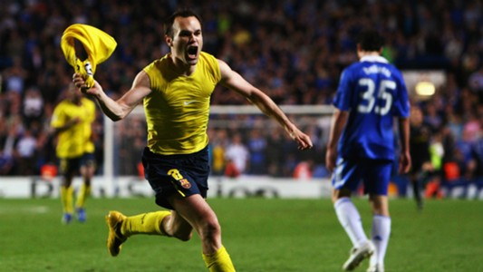 Andres Iniesta Barcelona Chelsea Champions League 06052009