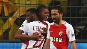 Monaco celebrate vs Borussia Dortmund