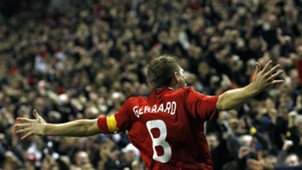 Steven Gerrard Liverpool Real Madrid Champions League 2009