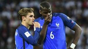 Antoine Griezmann Paul Pogba France 2016
