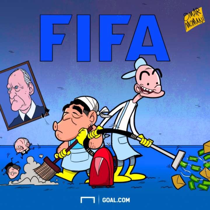 CARTOON Maradona to join FIFA