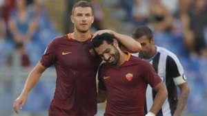Edin Dzeko Mohamed Salah Roma