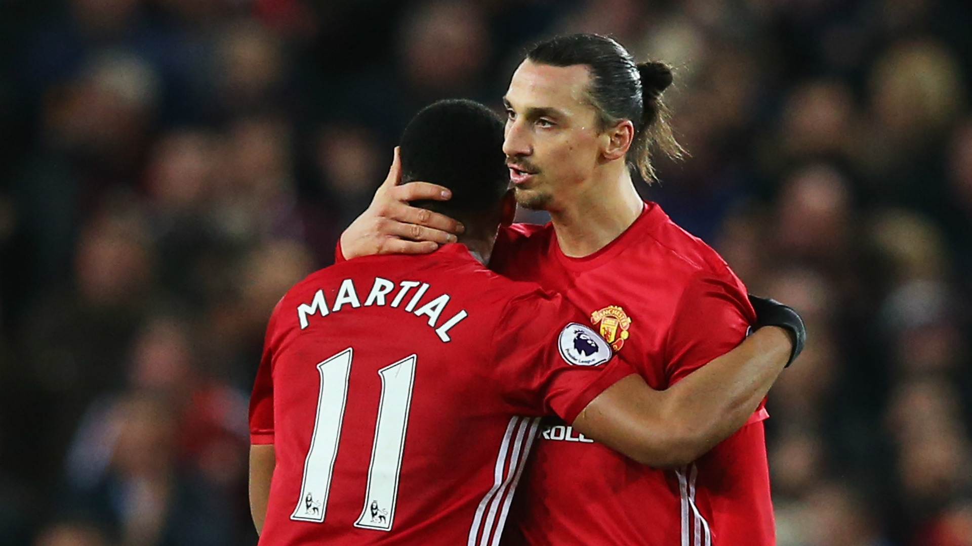 Zlatan Ibrahimovic Anthony Martial Manchester United 31122016
