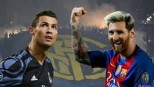Ronaldo Messi Serie A composite