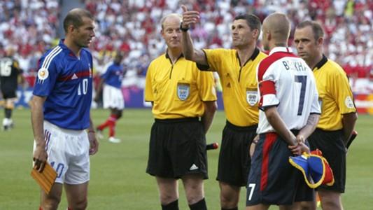 Zinedine Zidane David Beckham France England Euro 2004