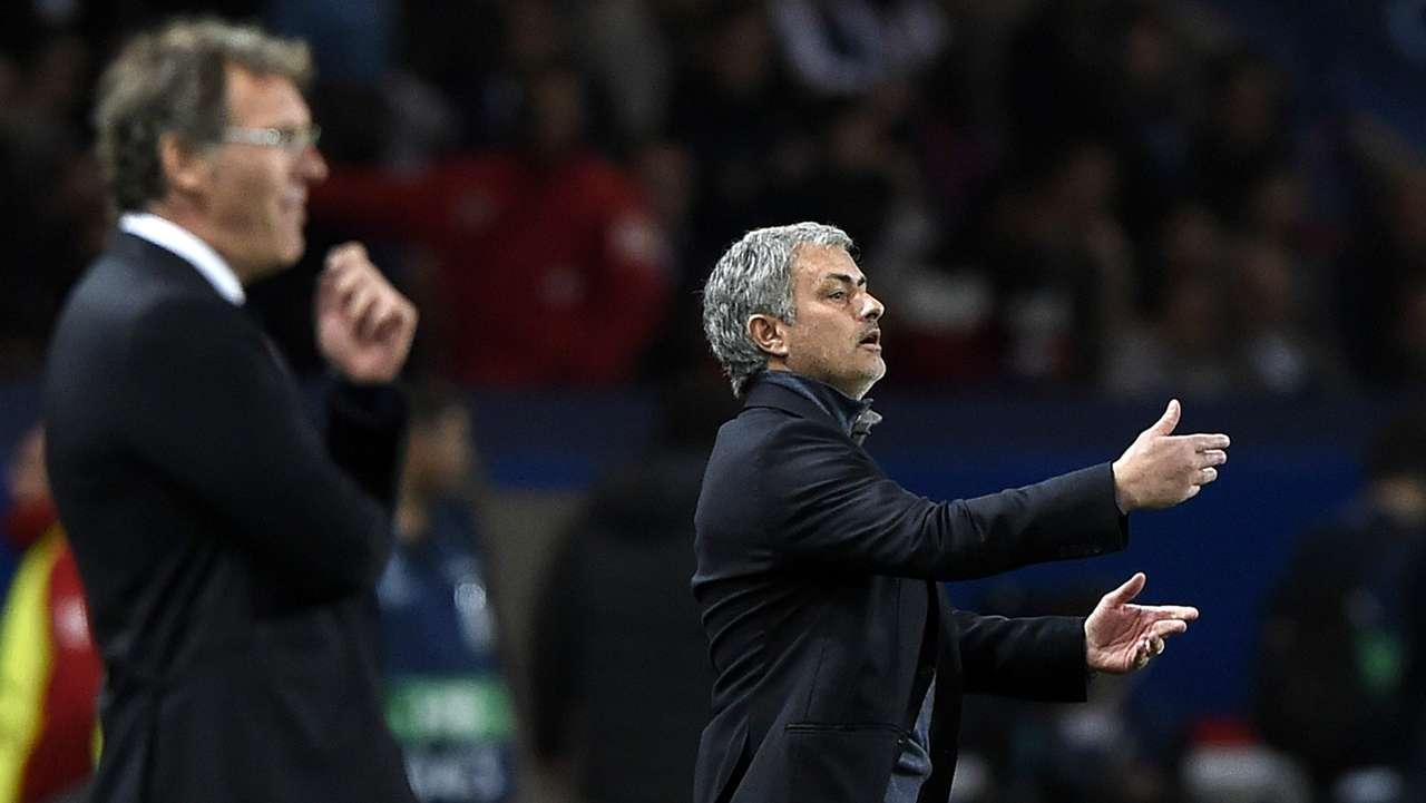 Laurent Blanc Jose Mourinho Paris Saint-Germain Chelsea Champions League 042015