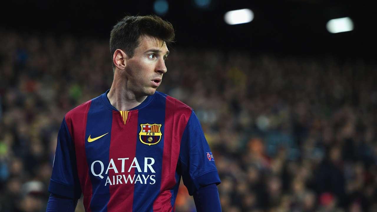 Lionel Messi 2 Barcelona Manchester City Champions League 18032015