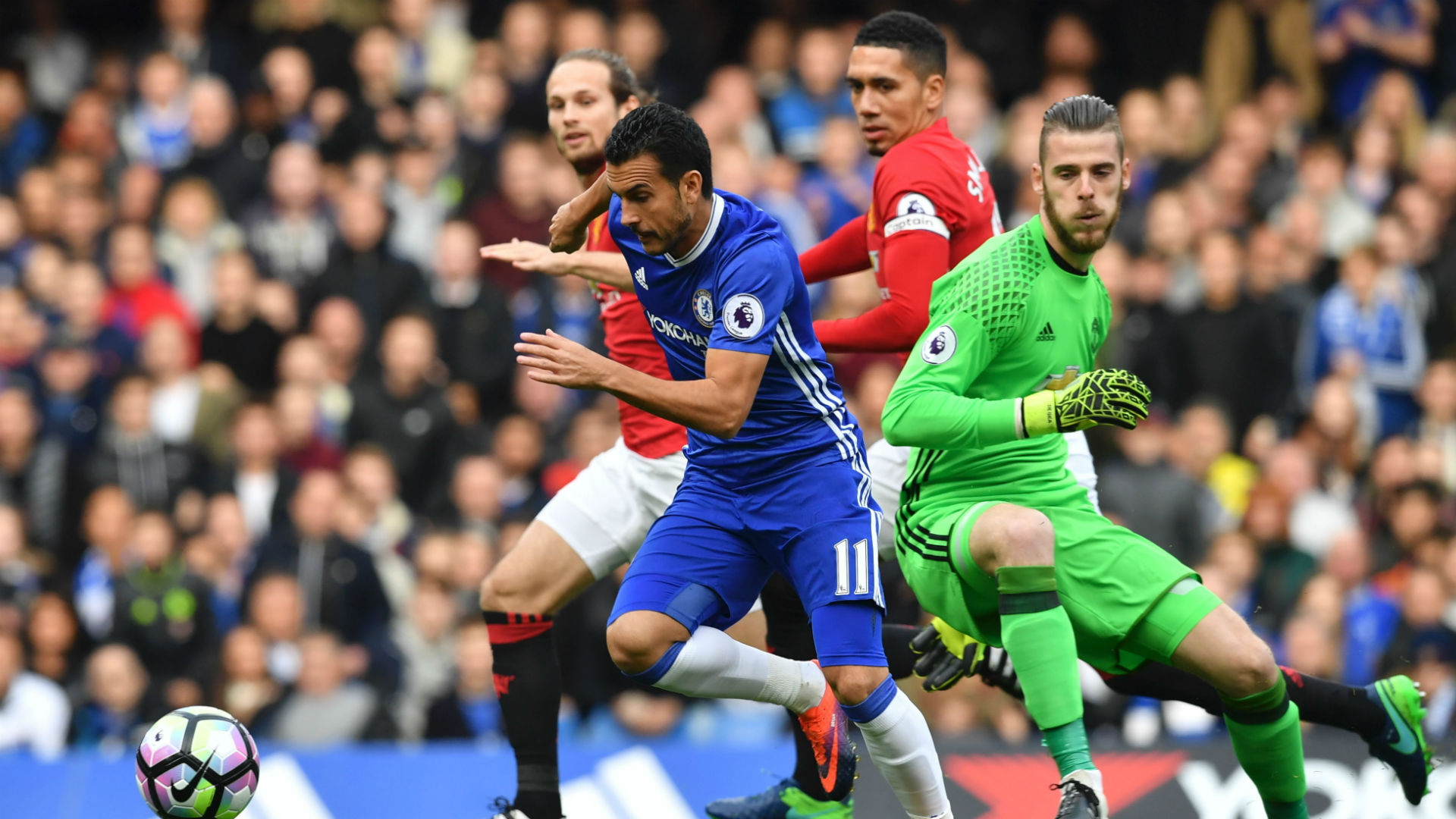 Pedro Premier League Chelsea v Man Utd 231016