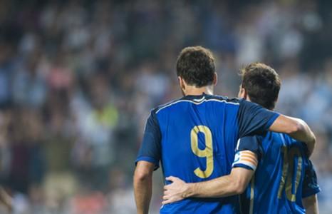 Lionel Messi Gonzalo Higuain Argentina Hong Kong Friendly 14102014