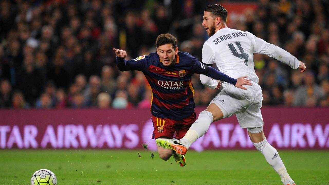 El Clasico Lionel Messi Sergio Ramos