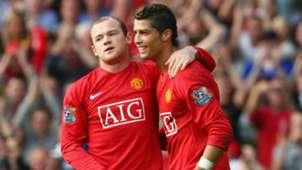 Wayne Rooney Cristiano Ronaldo Manchester United Premier League