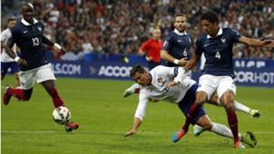 Raphael Varane Cristiano Ronaldo France Portugal 11102014