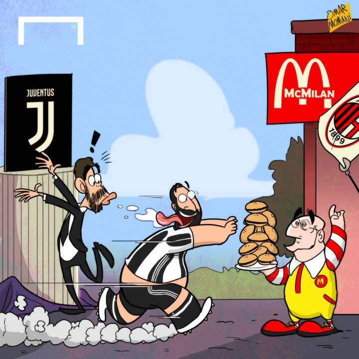 CARTOON Juventus's new logo