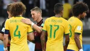 Bastian Schweinsteiger David Luiz Brazil Germany World Cup 2014 08072014