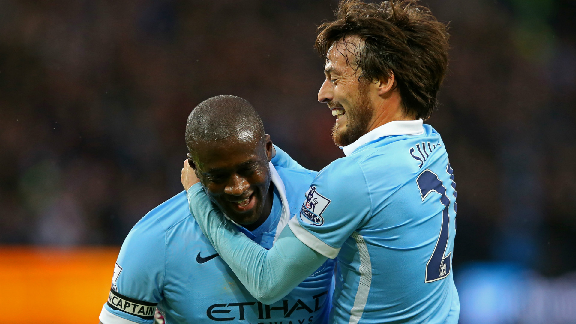 Yaya Toure David Silva Manchester City Premier League