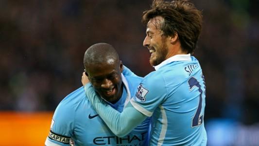 Yaya Toure David Silva Manchester City Premier League