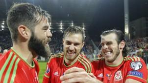 Joe Ledley Aaron Ramsey Gareth Bale Bosnia Wales 10102015
