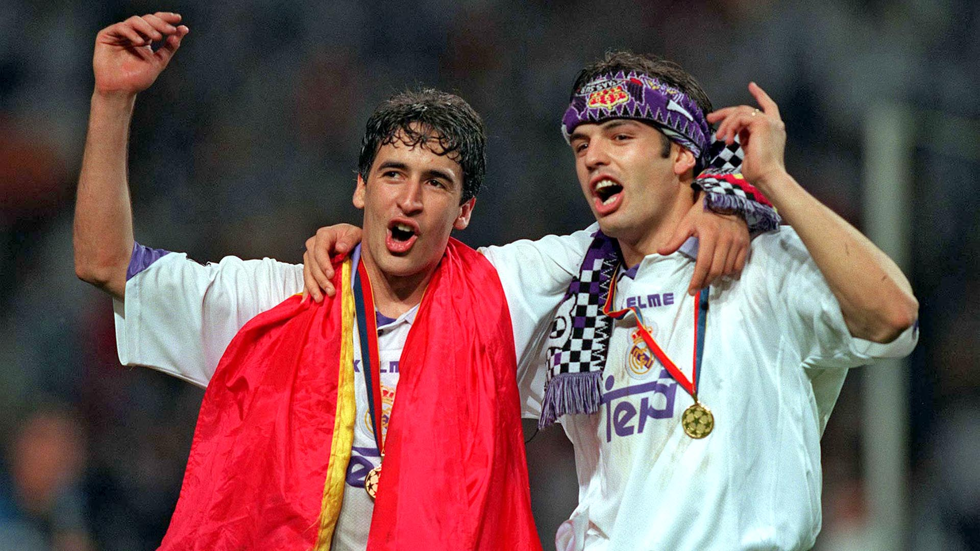 Morientes Raul 1998 Champions League final Real Madrid Juventus