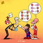 Barcelona Bayern Arsenal Wenger cartoon