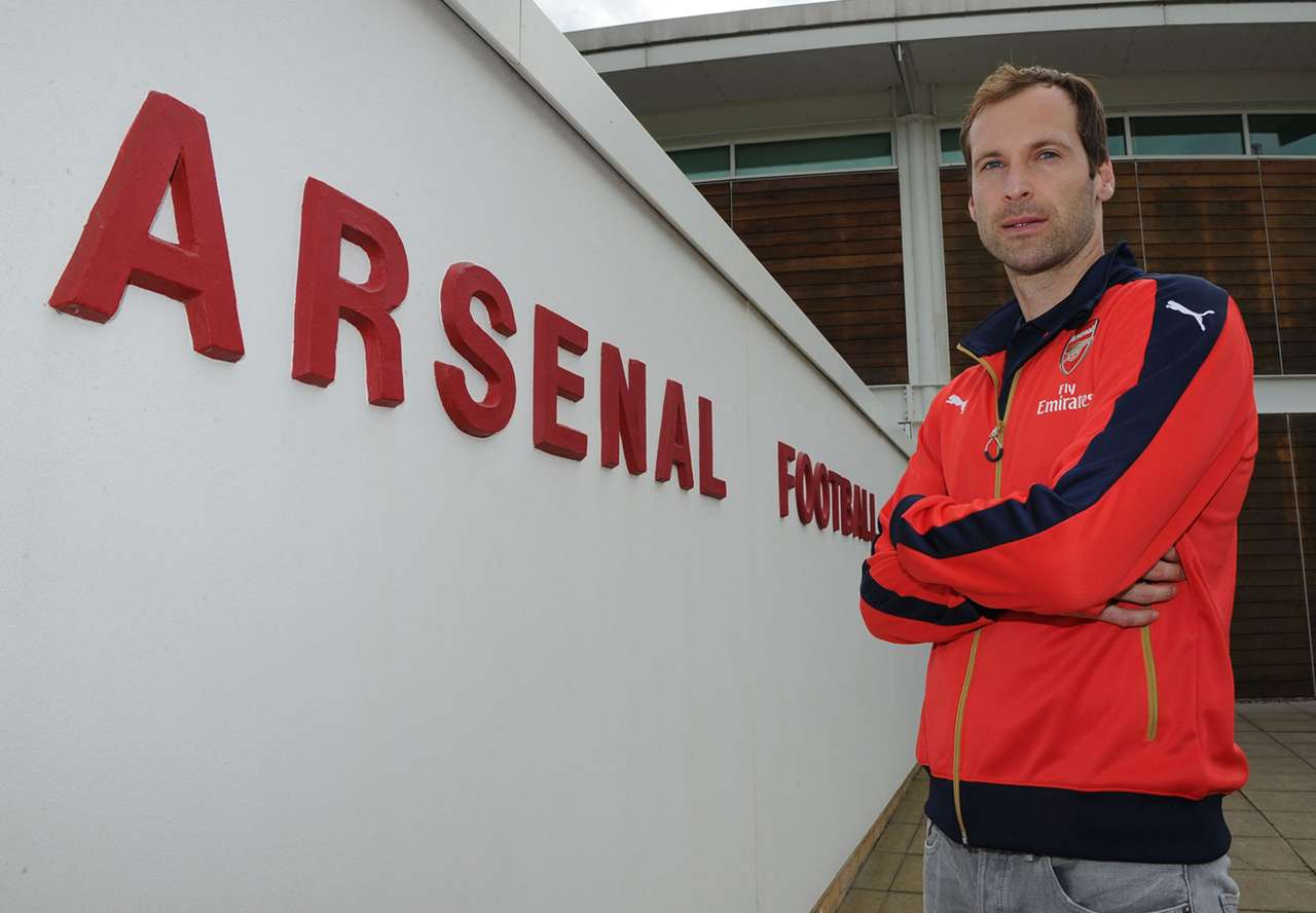 Petr Cech Arsenal Unveiling