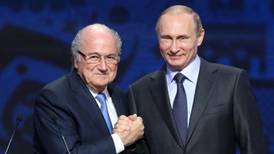 Sepp Blatter Vladimir Putin 2018 World Cup Draw