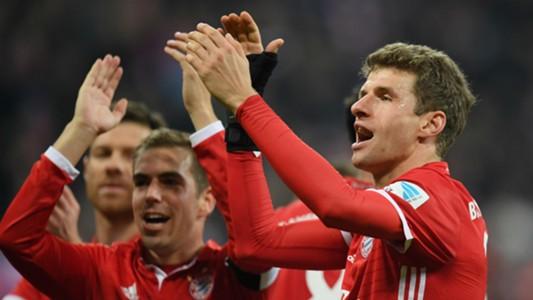 Thomas Muller Bundesliga Bayern v Wolfsburg 101216