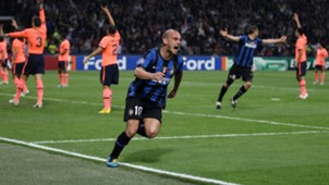 Wesley Sneijder Inter Barcelona Champions League