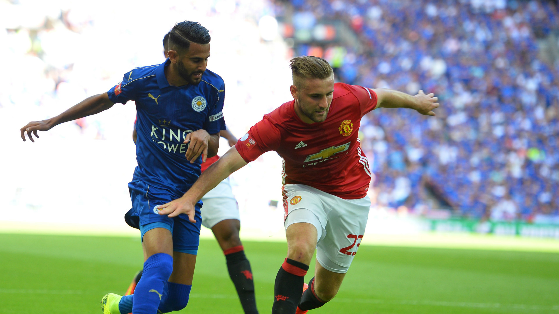 HD Luke Shaw Manchester United Riyad Mahrez Leicester City 07082016
