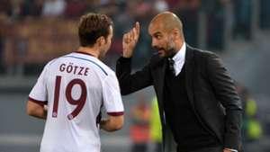 Mario Gotze Pep Guardiola Bayern Munich 2014