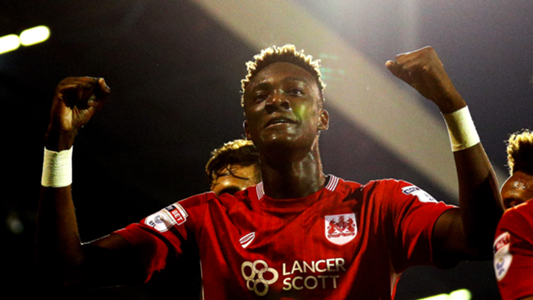 Tammy Abraham scores for Bristol City