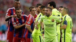 Jordi Alba Bayern Munich Barcelona Champions League 12052015