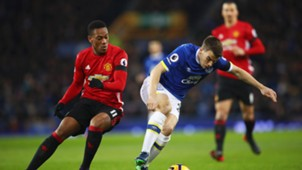 Anthony Martial Seamus Coleman Everton Manchester United