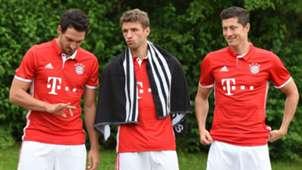 Mats Hummels Thomas Muller Robert Lewandowski Bayern Munich