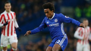 Willian Chelsea Stoke City 31122016