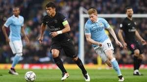 Thiago Silva, Kevin De Bruyne, Manchester City vs PSG