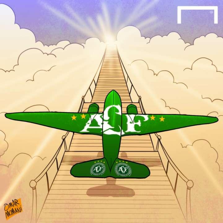 Cartoon Chapecoense