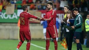 Sergio Ramos Gerard Pique Spain Costa Rica 11062015